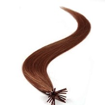 "18"" Vibrant Auburn (#33) 100S Stick Tip Human Hair Extensions"