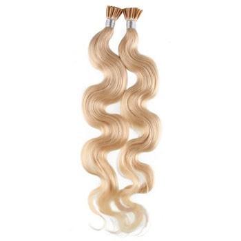 "20"" Bleach Blonde (#613) 50S Wavy Stick Tip Human Hair Extensions"