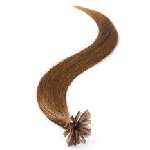 "20"" Chestnut Brown (#6) 50S Nail Tip Human Hair Extensions"