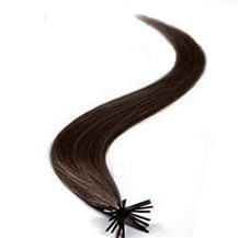 "20"" Dark Brown (#2) 100S Stick Tip Human Hair Extensions"