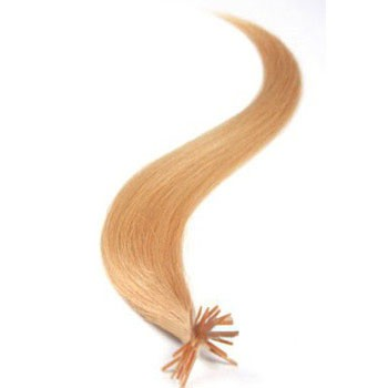 """20"""" Strawberry Blonde (#27) 50S Stick Tip Human Hair Extensions"""