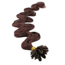 "20"" Vibrant Auburn (#33) 50S Wavy Nail Tip Human Hair Extensions"