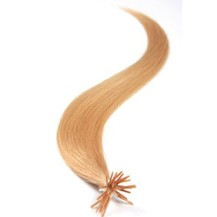 """22"""" Strawberry Blonde (#27) 50S Stick Tip Human Hair Extensions"""