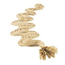 """24"""" Ash Blonde (#24) 50S Wavy Nail Tip Human Hair Extensions"""