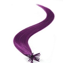 "24"" Lila 50S Stick Tip Human Hair Extensions"