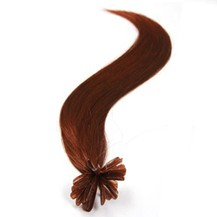 "24"" Vibrant Auburn (#33) 100S Nail Tip Human Hair Extensions"