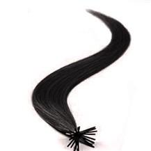 "26"" Off Black (#1b) 50S Stick Tip Human Hair Extensions"