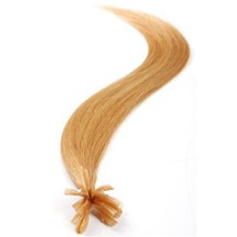 """26"""" Strawberry Blonde (#27) 50S Nail Tip Human Hair Extensions"""