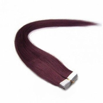 "16"" 99J 20pcs Tape In Remy Human Hair Extensions"