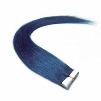 """16"""" Blue 20pcs Tape In Remy Human Hair Extensions"""