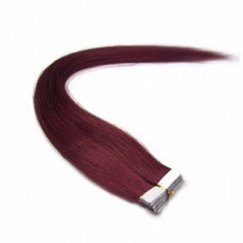 "16"" Bug 20pcs Tape In Remy Human Hair Extensions"