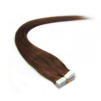 "16"" Chestnut Brown (#6) 20pcs Tape In Remy Human Hair Extensions"