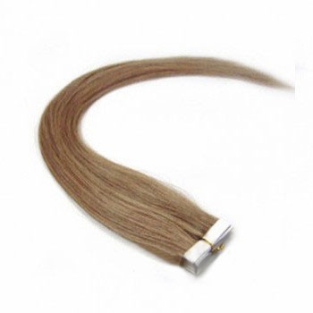 "16"" Golden Brown (#12) 20pcs Tape In Remy Human Hair Extensions"