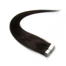 "16"" Off Black (#1b) 20pcs Tape In Remy Human Hair Extensions"