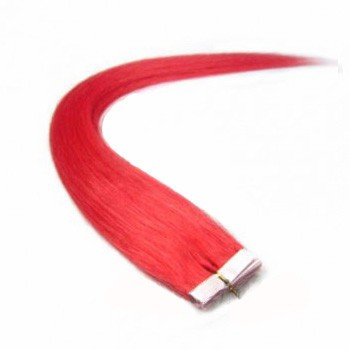 """16"""" Pink 20pcs Tape In Remy Human Hair Extensions"""