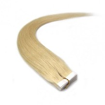"18"" Ash Blonde (#24) 20pcs Tape In Remy Human Hair Extensions"