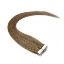 "20"" Ash Brown (#8) 20pcs Tape In Remy Human Hair Extensions"