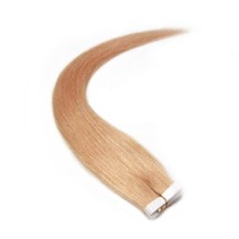 "20"" Strawberry Blonde (#27) 20pcs Tape In Remy Human Hair Extensions"