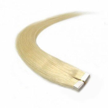 "28"" White Blonde (#60) 20pcs Tape In Remy Human Hair Extensions"