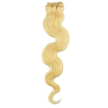 """16"""" Ash Blonde (#24) Body Wave Indian Remy Hair Wefts"""