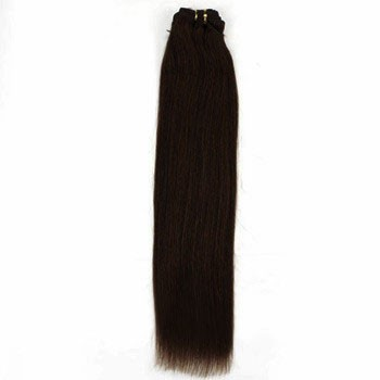 "16"" Dark Brown (#2) Straight Indian Remy Hair Wefts"