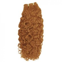 "16"" Golden Brown (#12) Curly Indian Remy Hair Wefts"