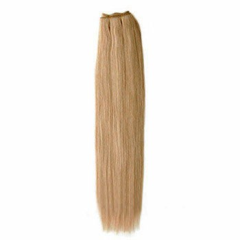 """16"""" Golden Brown (#12) Straight Indian Remy Hair Wefts"""
