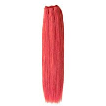"""16"""" Pink Straight Indian Remy Hair Wefts"""