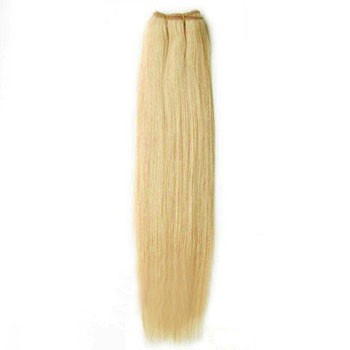 """18"""" Ash Blonde (#24) Straight Indian Remy Hair Wefts"""