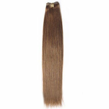 """18"""" Ash Brown (#8) Straight Indian Remy Hair Wefts"""