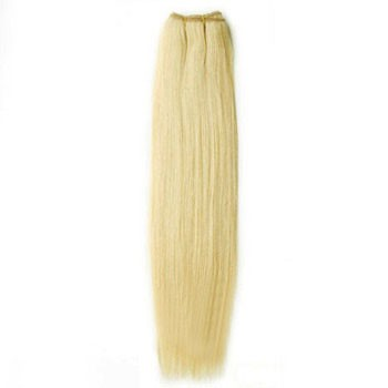 """18"""" Bleach Blonde (#613) Straight Indian Remy Hair Wefts"""