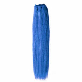 "18"" Blue Straight Indian Remy Hair Wefts"