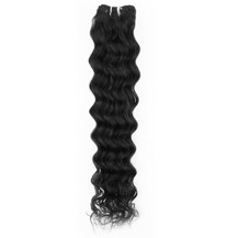 "20"" Off Black (#1b) Deep Wave Indian Remy Hair Wefts"