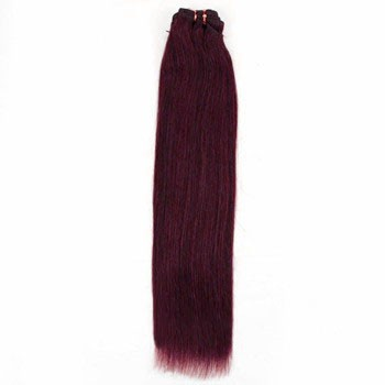 """24"""" 99J Straight Indian Remy Hair Wefts"""