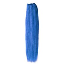 "24"" Blue Straight Indian Remy Hair Wefts"