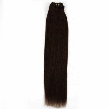 "24"" Dark Brown (#2) Straight Indian Remy Hair Wefts"