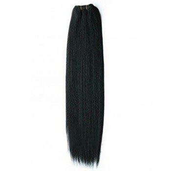 "24"" Jet Black (#1) Straight Indian Remy Hair Wefts"