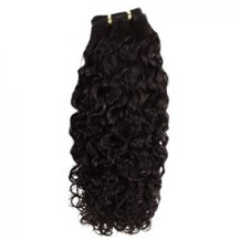 """28"""" Dark Brown (#2) Curly Indian Remy Hair Wefts"""