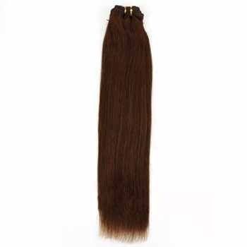 """10"""" Chestnut Brown (#6) Straight Indian Remy Hair Wefts"""