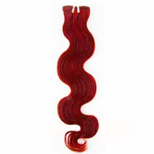 "10"" Red Body Wave Indian Remy Hair Wefts"