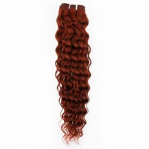 "10"" Vibrant Auburn (#33) Deep Wave Indian Remy Hair Wefts"