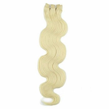 """10"""" White Blonde (#60) Body Wave Indian Remy Hair Wefts"""
