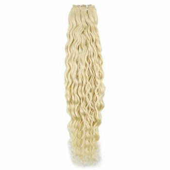 "12"" Bleach Blonde (#613) Deep Wave Indian Remy Weave Hair"