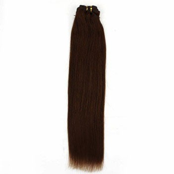 """12"""" Chocolate Brown (#4) Straight Indian Remy Hair Wefts"""