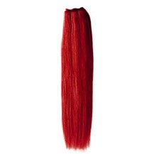 "12"" Red Straight Indian Remy Hair Wefts"