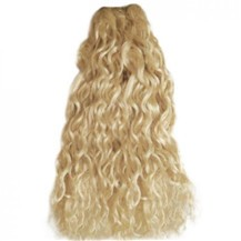"14"" Ash Blonde (#24) Curly Indian Remy Hair Wefts"