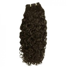 "14"" Ash Brown (#8) Curly Indian Remy Hair Wefts"