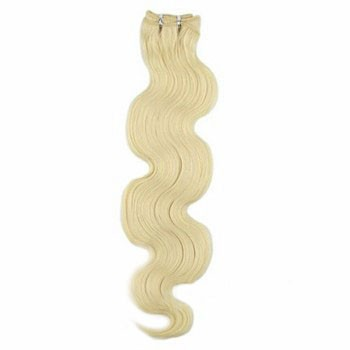 """14"""" Bleach Blonde (#613) Body Wave Indian Remy Hair Wefts"""