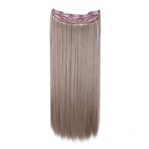 "24"" Ash Brown(#8) One Piece Clip In Synthetic Hair Extensions"