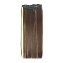 "24"" Brown Blonde(#4/613) One Piece Clip In Synthetic Hair Extensions"